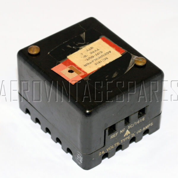 5C/1616 - Accumulator, Ex mod Military electrical spares and aircraft Spare parts