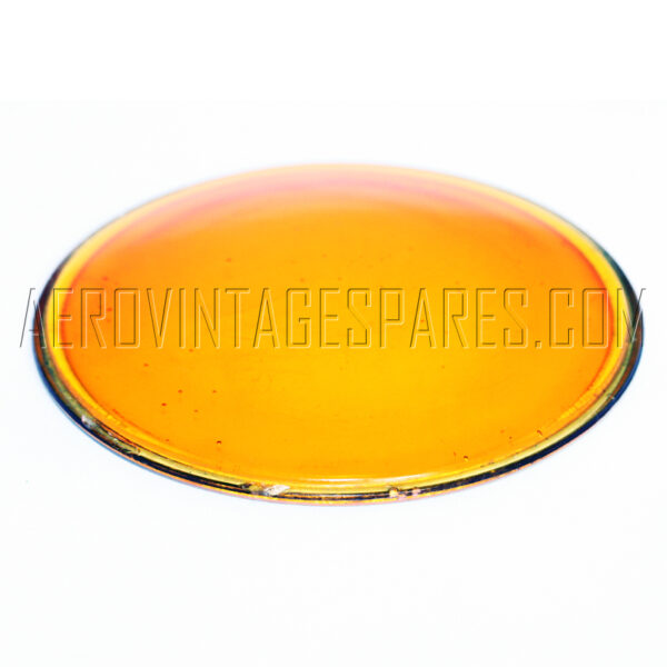 5C/3017 - Glass amber, Ex mod Military electrical spares and aircraft Spare parts