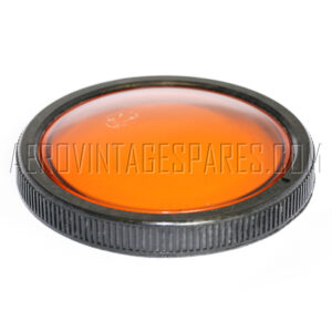 5CX/3465 - Front Domed amber, Ex mod Military electrical spares and aircraft Spare parts