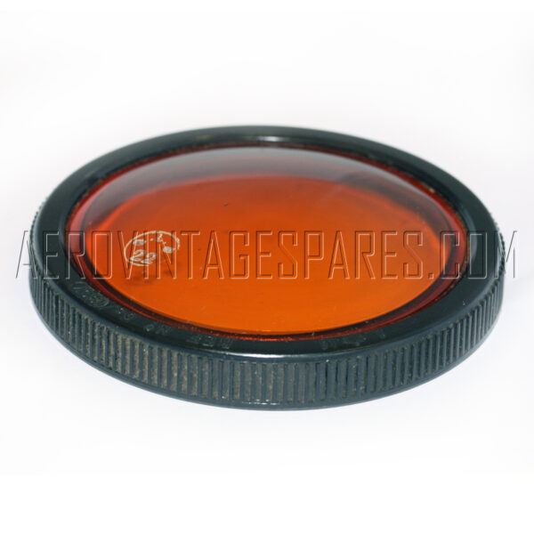 5CX/1907 - Front Flat Amber, Ex mod Military electrical spares and aircraft Spare parts