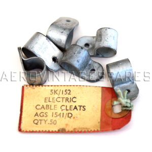 """5K/152 - (AGS 1541-D) Cleat, Electric Cable  For cable 7/16"""" dia (No. 4). Cad plated Brass."""