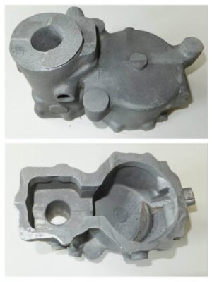 Original part number 9-601.561-900. Unmachined casting in heat treated L99 aluminium alloy £650. Unmachined casting in magnesium £1300. If you require the part machined, please enquire.  Please note: the part number is for identification only and has been taken from a parts book dated 1st September 1940 for the Daimler Benz 601 A/B Motor. All the above castings have been checked and an example fully machined to check for errors. No drawings are available for these parts although we have commissioned drawings taken from original parts for our own machining purposes, but for copyright and legal reasons we regret that we are unable to pass them on to our customers. As far as is known there are no factory drawings available.  Made to order.