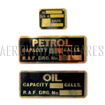Set of three labels (AGS 226A, 226B and Com;ponent lable)