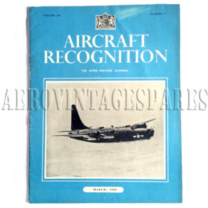 'Aircraft Recognition Vol. II No. 7 March 1945' if part of 'The Inter-Services Journal'.