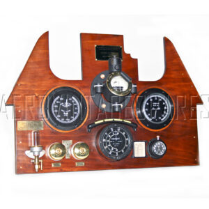 This is a Sopwith Camel replica panel that is built largely from new made parts that we manufacture.  Currenlty our of stock but we can make to order.  To make such a panel from nothing is possible, though the compass is a challenge to make that we have yet to tackle.  See the various Sopwith Pup and Camel items that we can offer below and if you dont see what you need, let us know. We will see if we can help.