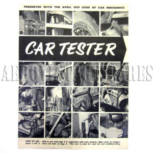 Black and white diagram leaflet 'presented with the April 1959 issue of Car Mechanics'