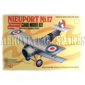 Platignum, Wings of World War Series Card Model Kit for a Nieuport Ni17, full colour, detailed finish. Complete easy to assemble , just press out the parts and slot together vintage card model kit with instructions in multiple languages including English, French and German.