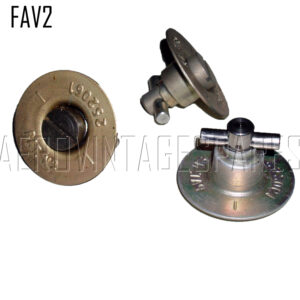 FAV2 - Fairey Fasteners Spitfire type 1 ½ inch. New design: All parts are identical looking to the originals, and are complete with embossed writing where appropriate.  The cross-piece in the locking mechanism of the 40 and 30 mm type are round bar instead of the original T shaped section.  This makes replacement of the cross-piece considerably easier (it is held in place with a spring dowel and not soldered); this minor alteration reduces the unit cost significantly, and means that replacement pins can be easily fitted.