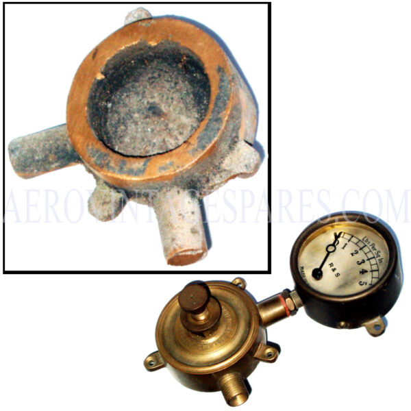 Sopwith Camel - Fuel tank pressure release valve, unmachined casting, plus springs and drawings  Does not include pressure gauge or other materials  PLEASE NOTE: Completed item shown with gauge for illustration purposes only and is not included in the sale