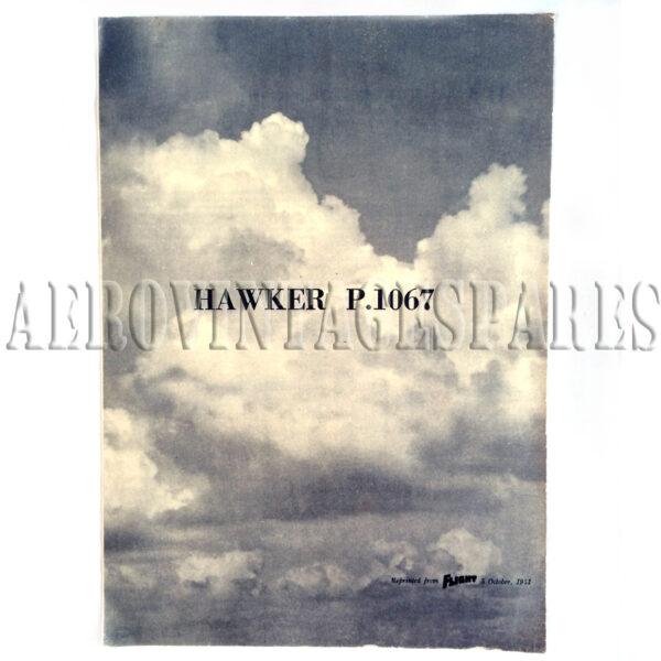 Original Factory leaflet for a Hawker Hunter P.1067 Reprinted from 'Flight' 5 October, 1951