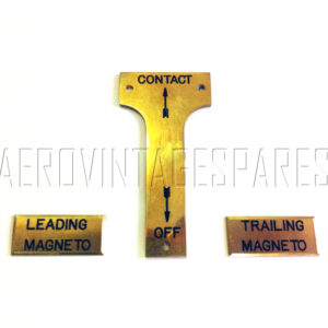 Sopwith Pup - Magneto switch panel plate set (3 items)!!!!*!!!!  Fitted to most Sopwith types fitted with twin magnetos