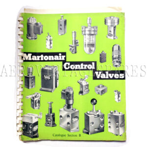 Martonair Control Valves Catalogue, 1957. Section B. Missing rear cover but with extra inserts and letter from Martonair's Technical Department.
