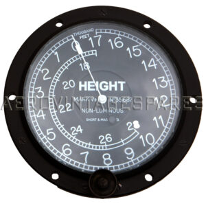 This is fully overhauled and will be check calibrated before dispatch. It is a non-sensitive British altimeter of the type fitted to all RFC and RNAS military aircraft during the 1914-1918 conflict and indeed afterwards, up to the mid 1930s. We have thoroughly overhauled this instrument and it is in perfect working condition. The dial is rotated and set on zero on take off and it is then hoped than there is little pressure change at the end of the sortie, allowing a fair judgement of the lie of the land and more importantly the home airfield. This example was made by Short and Mason, who made instruments of the highest quality. These altimeters are extremely hard to find today. The pictured example may be a different make or Mk. to the actual model we will be shipping you, but will be identical in all other respects unless we advise you to the contrary. You will be shown a photo of the actual instrument before buying.