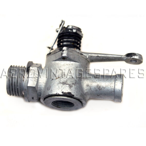 """This is for a flexible outlet pipe size of about 5/8"""" bore (for small oil tanks, perhaps). The thread is 1/2"""" BSP, and there is a safety pin to hold it shut.  This became obsolete in the early '30's so to find unused is a great rarity. Very few left now."""