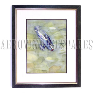 Stunning original watercolour of a diving bi-plane. Mounted, with frame and glass. A fabulous painting that would be a wonderful addition to any aviation enthusiasts collection.