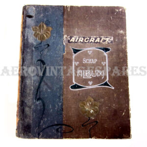 This original period scrap book was collated during the 1st World War, and consists of cuttings about aircraft, the pilots and some technical detail. 34 pages plus extra cuttings.   The size is 26 x 31 x 11mm