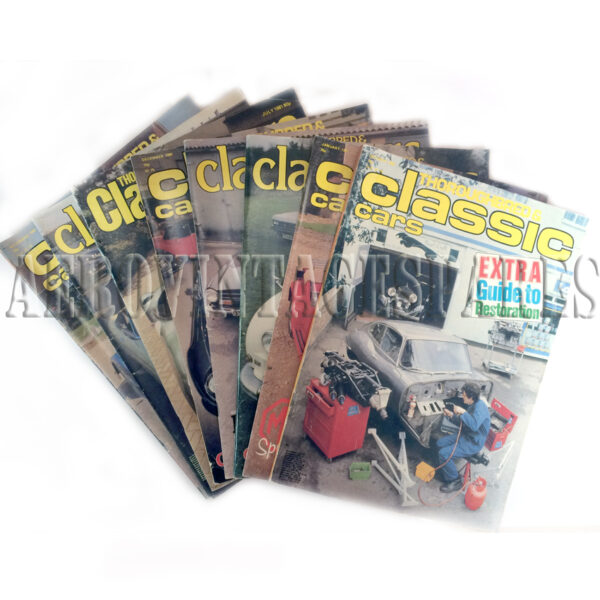 Fabulour selection of 'Thoroughbred & Classic Cars' magazines from the 1980 and 1981. Including an MG Special edition, Convertibles: Fresh Air & Fun, Free Directory of Body Care, Coventry Museum Special and Extra 'Morgan' Special.