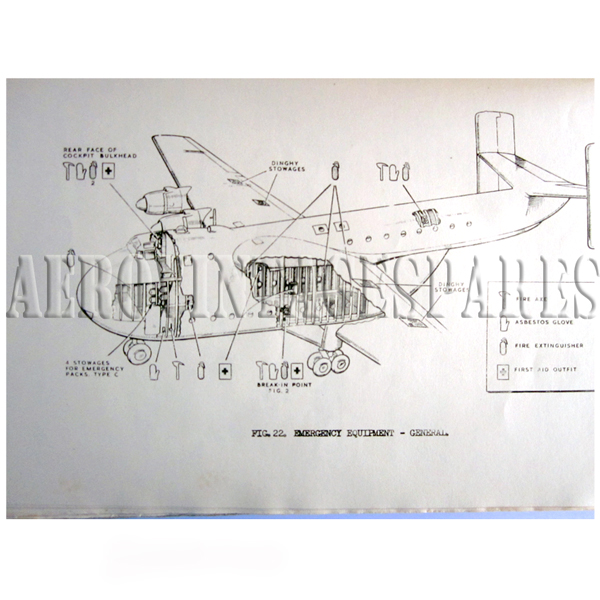 Royal Air Force Tranport Command Techincal Training Notes Beverley C.MK.1 An original manual with detailed plate techinical diagrams with original binding. Loose front cover sheet.