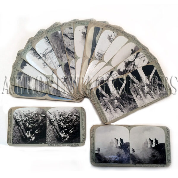 WWI Trench Warfare Steroscopic Photographs. A selection of 25 stereoscopic photographs (real photos) that tell in graphic details what trench war was all about and in stunning clarity. A very rare and real glimpse at WWI life in the trenches.